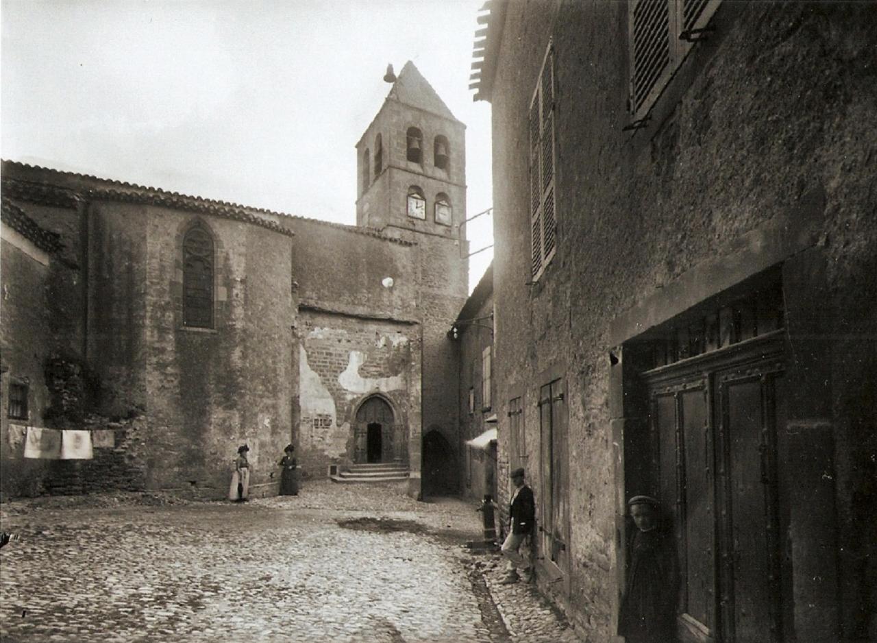 1914...Le clocher de l'église.